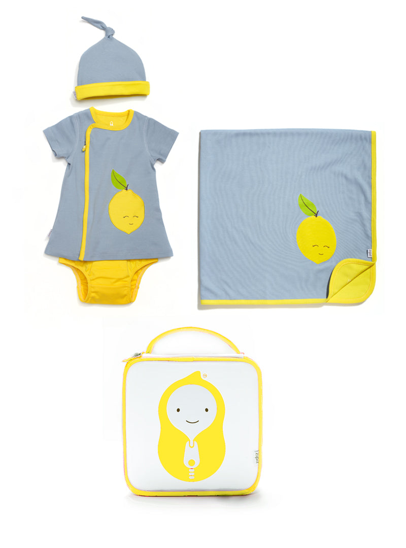 lemon dress gift set - Zipit® | Babywear with Zips for Easier Dressing