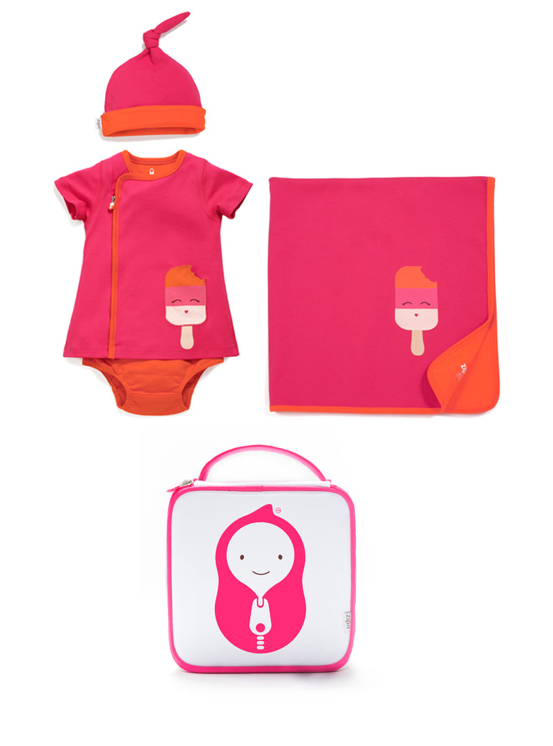 4 Piece Zip-Up Dress Set - Zipit® | Babywear with Zips for Easier Dressing