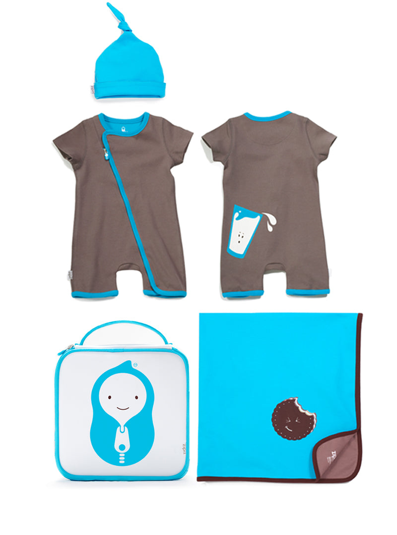 milk 'n' cookie romper set - Zipit® | Babywear with Zips for Easier Dressing