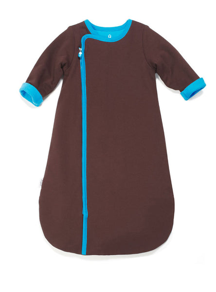 zip-up sleepsack chocolate - Zipit® | Babywear with Zips for Easier Dressing