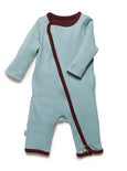 zip-up onesie surf green - Zipit® | Babywear with Zips for Easier Dressing
