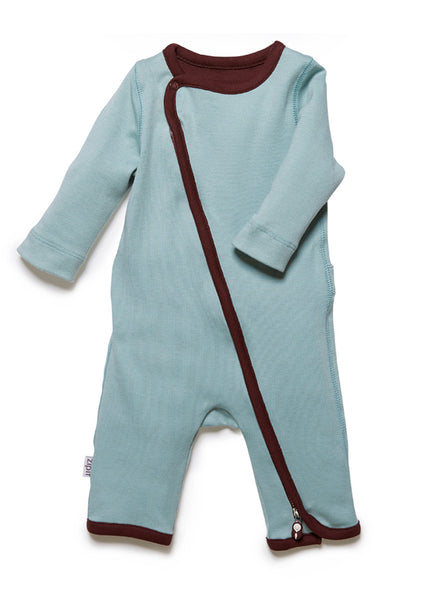 zip-up babygrow surf green - Zipit® | Babywear with Zips for Easier Dressing