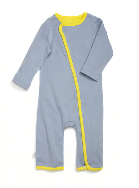 zip-up babygrow vintage grey - Zipit® | Babywear with Zips for Easier Dressing