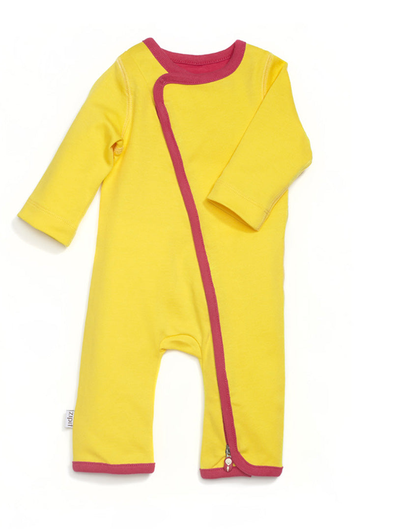 zip-up babygrow sunshine yellow - Zipit® | Babywear with Zips for Easier Dressing