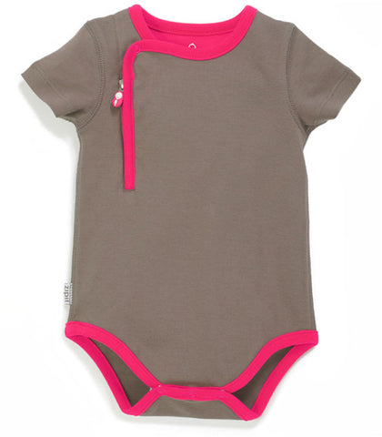 zip-up bodysuit pebble grey