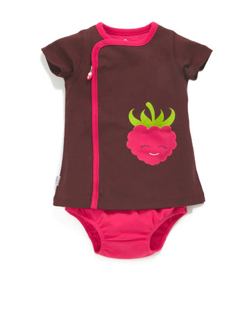 zip-up raspberry dress