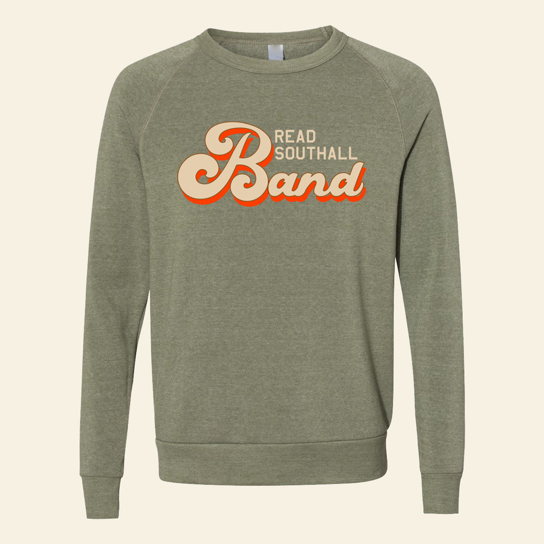 """Olive Rock and Roll"" Crewneck Sweatshirt"