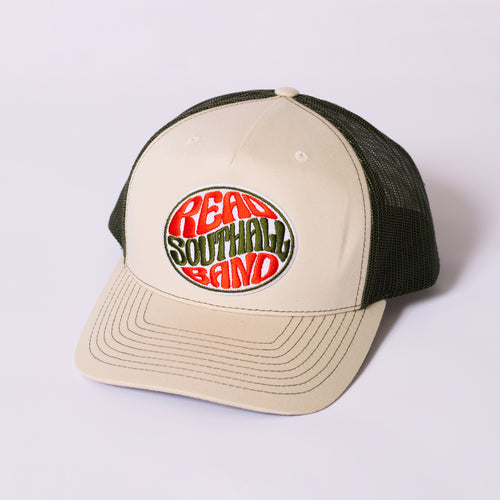 Beige/Green Snap-Back Hat
