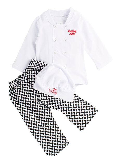 Baby Unisex Cook Chef Costume, Pants sand Hat 3-pc