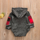 Cute Newborn Baby Boy Long Sleeve Clothes Hooded Romper Jumpsuit Outfit