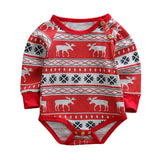 Christmas Newborn Baby Boy Girl Deer Long Sleeve Romper Jumpsuit Outfits Clothes
