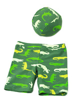 Bilo Cartoon Children Baby Boys Alligator Swimwear Swimsuit Beach Pants Clothes Hat Outfit