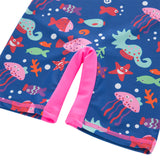 Kid Girls Chic Rash Guard Swimsuit Pool Party Swim Wear Beach Bathing Suit Pink The Sea