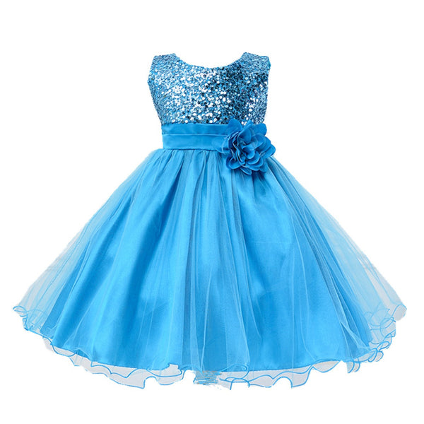 Bilo Lovely Sequin Flower Girl Dress, 5 Colors