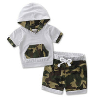 Infant Baby Boy Camouflage Hoodie Top and Pants Outfit