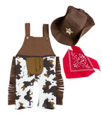 Baby Boy Sheriff Cowboy Overalls, Hat and Handkerchief 3-p