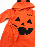 Baby Toddler Halloween Fleece Chic Pumpkin Costume Hooded Romper