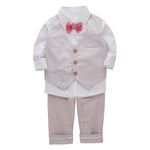Bilo Infant Baby Kid Boy 3-Pieces Formal Wear Shirt, Vest and Pants - Bilo store