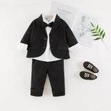 Bilo Baby Boy Tuxedo Formal Wear Suit 3-PC Shirt Pants and Jacket - Bilo store