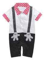 Baby Boy Mickey Mouse Inspired Onesie Costume Romper - Bilo store