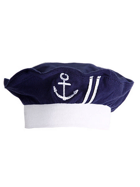 Newborn Infant Nautical Sailor Embroidered Baby Boy Hat, 3-12 Months