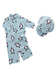 Boys Penguins One-Piece Swimsuit With Hat 2 Pcs Set - Bilo store