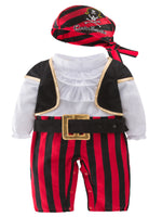 Infant Baby Boy Cap'n Stinker Pirate Halloween Costume 4 pcs Set - Bilo store