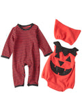 Bilo Infant Toddler Chic Halloween Baby Boy 3-PC Costume Set with Hat - Bilo store
