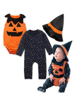 Bilo Baby Girl Boy Halloween Pumpkin Costume Pumpkin Vest, Romper and Hat 3-Piece - Bilo store