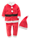 Bilo Unisex Baby Santa Costume Top and Pants with Hat 3pcs Christmas Outfit - Bilo store