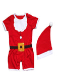 Bilo 2-PC Baby Christmas Santa Costume Romper with Hat - Bilo store
