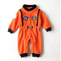 Bilo Baby Toddler Boy Orange Astronaut Fleece Costume Jumpsuit Cosplay Party Halloween Baby Boy Clothes - Bilo store