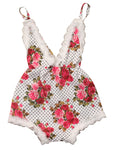 Cute Baby Toddler Girl Summer Floral Lace Sunsuit Romper - Bilo store