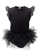 Baby Girl Long/Cap Sleeve Ruffle Cotton Romper with Tulle Tutu Skirt - Bilo store