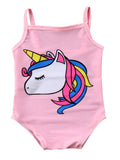 Baby Girl Unicorn Print One-Piece Swimsuit Beachwear Bathing Suit 3 Colors - Bilo store