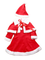 Bilo 3-PC Santa Baby Girl Costume Dress, Cape and Hat 3 Pieces Holiday Clothing Set - Bilo store