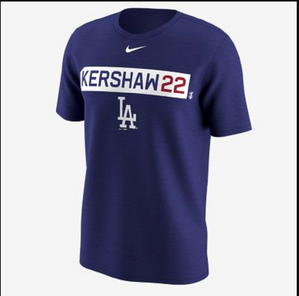 Nike MLB LA Dodgers Clayton Kershaw Men's Crew Neck Short Sleeves Training Shirt XXL - Bilo store