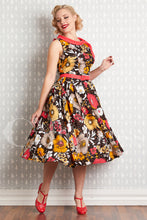 Load image into Gallery viewer, Eliana-Coral Floral Swing Dress