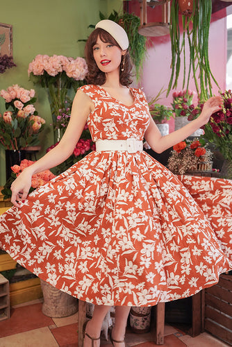Kortney-Amber Floral Swing Dress