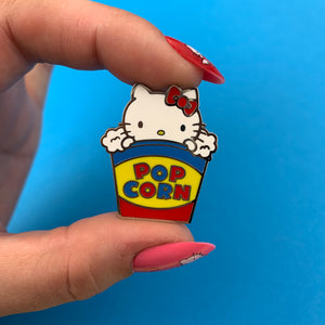Erstwilder X Hello Kitty: Hello Kitty Popcorn Enamel Pin