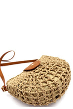Load image into Gallery viewer, Half-Moon Bohemian Straw Bag - Multiple Colors