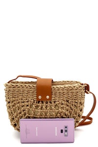 Half-Moon Bohemian Straw Bag - Multiple Colors