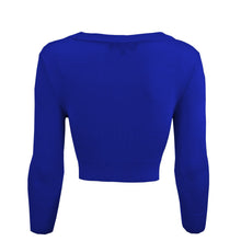 Load image into Gallery viewer, Classic Cropped Cardigan in Royal Blue