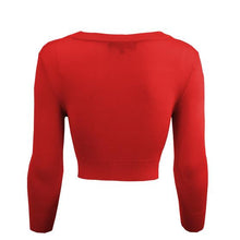 Load image into Gallery viewer, Classic Cropped Cardigan in Tomato