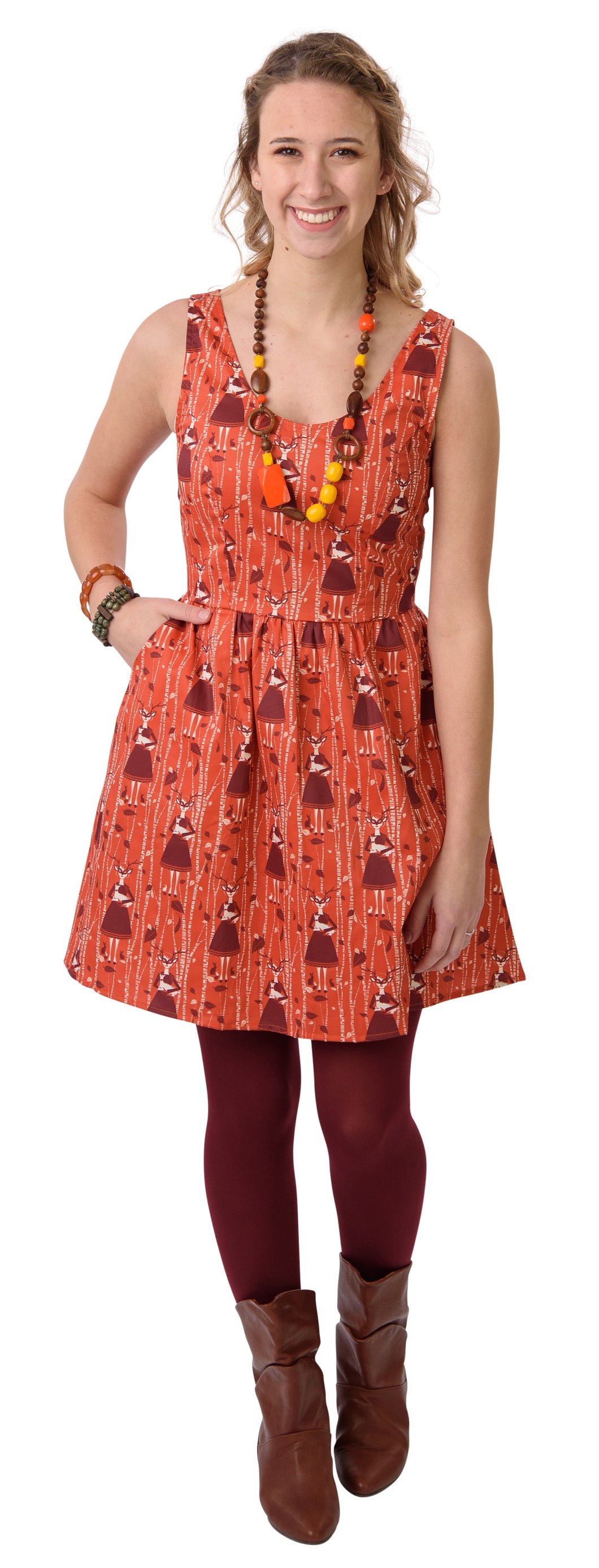 Deer Friends Dress