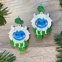 Load image into Gallery viewer, Edgar the Cozy Yeti Earrings - Multiple Colors