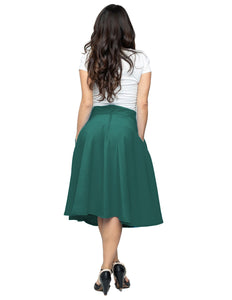 Pocket Circle Skirt in Jade