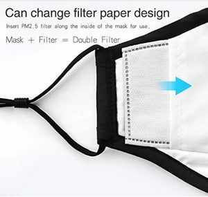 Double Layer Adjustable Face Mask  with PM2.5 Filter (Various Prints)
