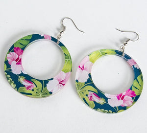 Mila Hawaiian Hoop Earrings