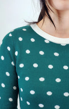 Load image into Gallery viewer, Polka Dot Sweater Dress